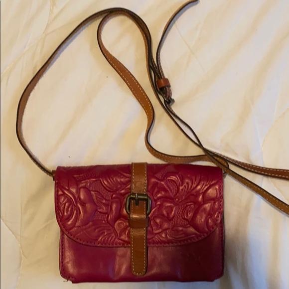 Patricia Nash crossbody purse.  Red